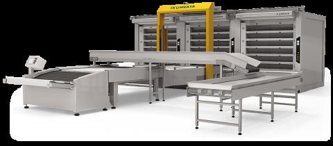 Автоматична подова хлібопекарська лінія OTМ 360-2 (8 ярусна - 2 печі, 72 м² площа випічки)